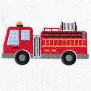 Fire Engine Machine embroidery designs