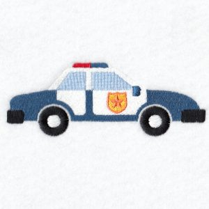 Police Car Machine embroidery designs