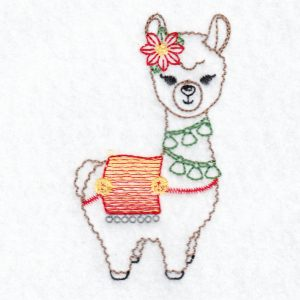 Christmas Llama Machine Embroidery Designs Hennessy