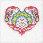 Belle Hearts Machine embroidery designs