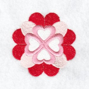 Heart Valentine machine embroidery design