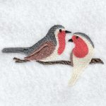 machine embroidery designs robin