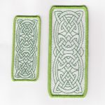 celtic bookmark machine embroidery