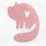 cat machine embroidery