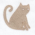 cat machine embroidery