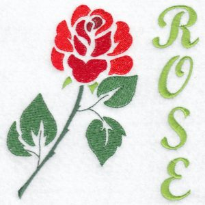 Stencil Flower Rose Machine Embroidery