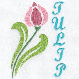 Stencil Flower Tulip Machine Embroidery