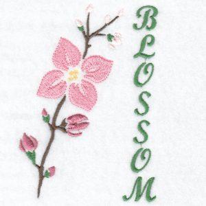 Stencil Flower Blossom Machine Embroidery