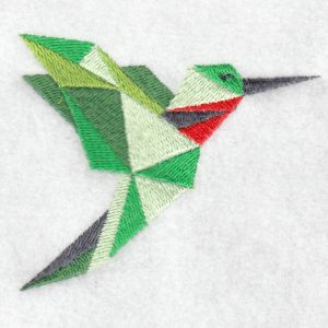 Hummingbird machine embroidery design