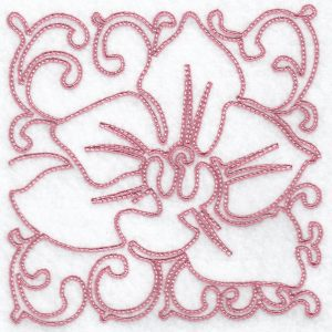 Hennessy Embroidery Line Orchid Blocks
