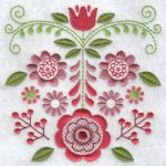Folk flowers machine embroidery designs