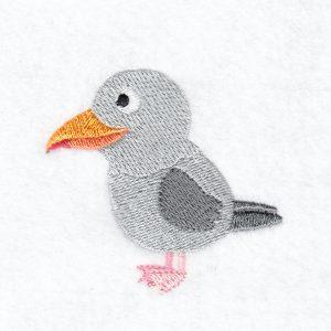 Seagull machine embroidery design