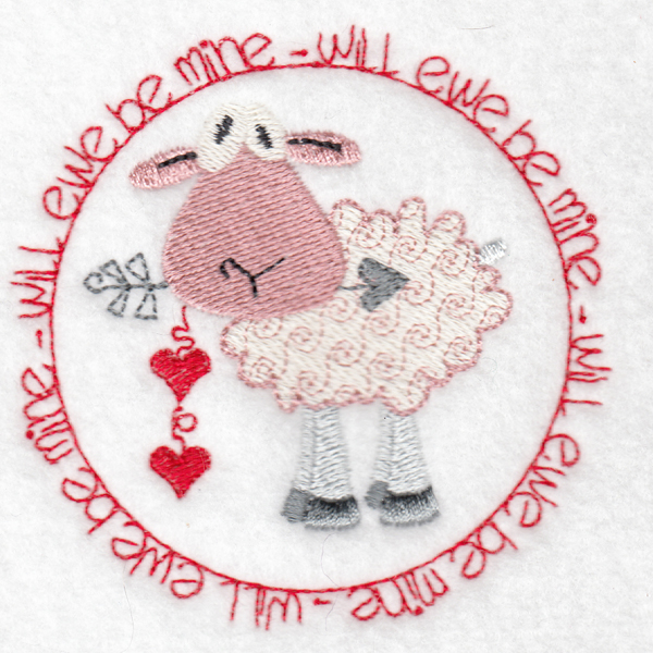 Hennessy Embroidery Ewe