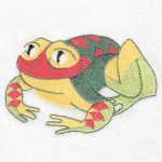 Machine embroidery design Frog