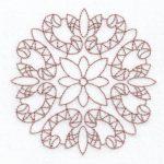 filigree circle machine embroidery design