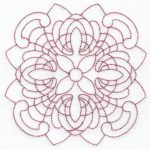 filigree circle machine embroidery design