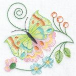 Hennessy Embroidery Jacobean Butterfly