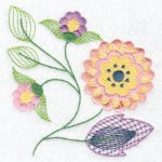 Hennessy Embroidery Jacobean Flowers